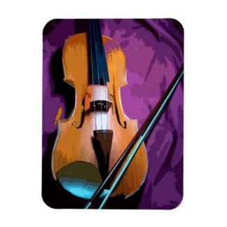 Elegant Violin on Purple Silk Photo Magnet