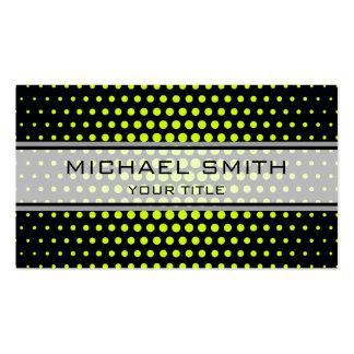 Elegant Volt Polka Dot Pattern Pack Of Standard Business Cards