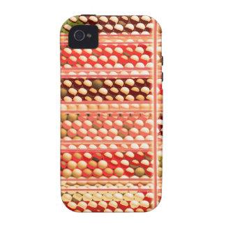 ELEGANT Warm Color EggSheels Shells Dots Circle Vibe iPhone 4 Cover