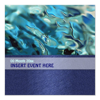 Elegant water environment energy conference card