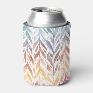 Elegant Watercolor Autumn Leaves | Can Cooler