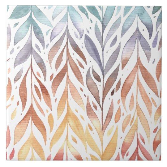Elegant Watercolor Autumn Leaves | Ceramic Tiles