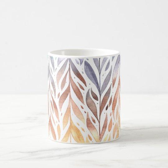 Elegant Watercolor Autumn Leaves | Classic Mug