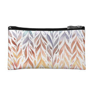 Elegant Watercolor Autumn Leaves | Cosmetic Bag