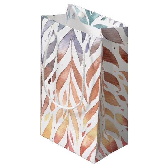 Elegant Watercolor Autumn Leaves   Gift Bag