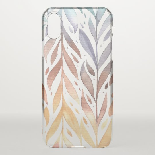 Elegant Watercolor Autumn Leaves | iPhone X Case
