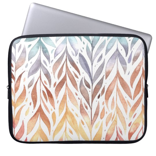 Elegant Watercolor Autumn Leaves | Laptop Sleeve