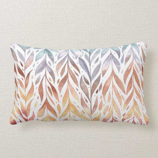 Elegant Watercolor Autumn Leaves | Lumbar Pillow