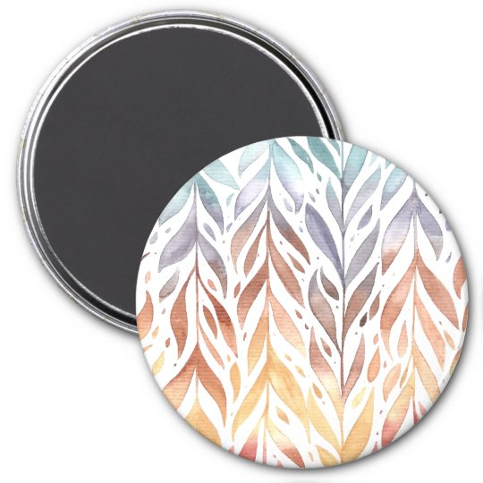 Elegant Watercolor Autumn Leaves | Magnet