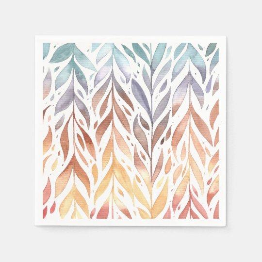 Elegant Watercolor Autumn Leaves   Napkin Paper Napkins