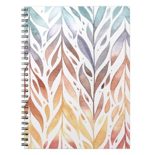 Elegant Watercolor Autumn Leaves | Notebook