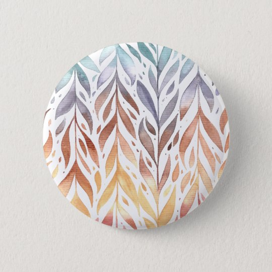 Elegant Watercolor Autumn Leaves | Pin Button