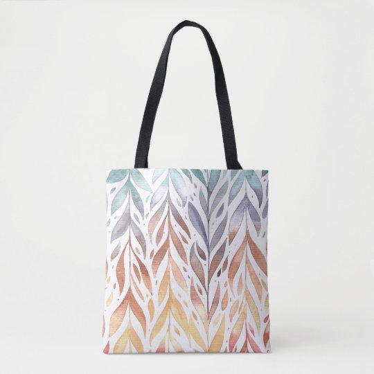 Elegant Watercolor Autumn Leaves | Tote Bag