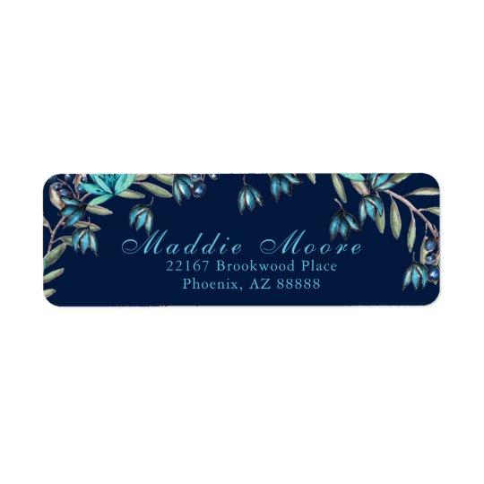 Elegant Watercolor Blue/Teal Floral Pattern