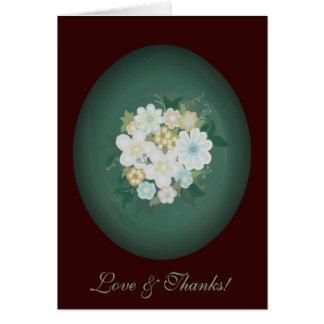 Elegant Watercolor Floral Bouquet Thank You Card