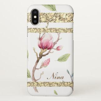 Elegant Watercolor Floral Design iPhone X Case