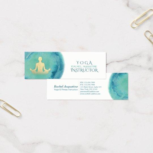 Elegant Watercolor Gold Meditation Yoga Instructor Mini Business