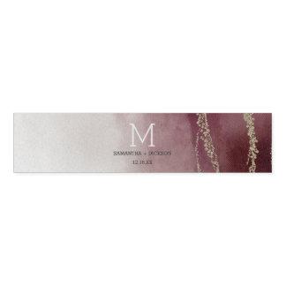 Elegant Watercolor in Cranberry Wedding Monogram Napkin Band