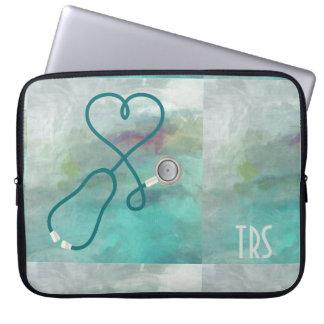 Elegant Watercolor Medical Doctor or Nurse Laptop Sleeve