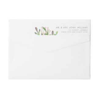 Elegant Watercolor Return Address Label