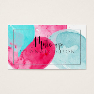 ★ Elegant Watercolour Make Up Business Card ★
