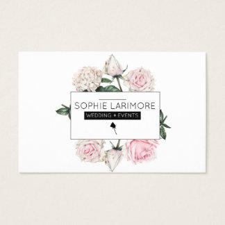 ★ Elegant  Watercolour Roses Business Card