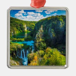 Elegant waterfall scenic, Croatia Christmas Ornament