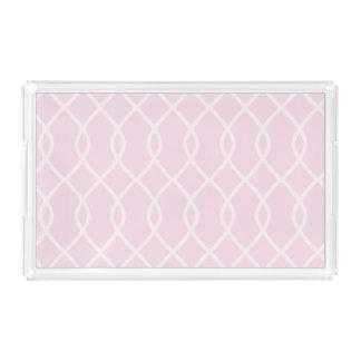 ELEGANT WAVE PATTERN - Soft Pink Vanity Tray