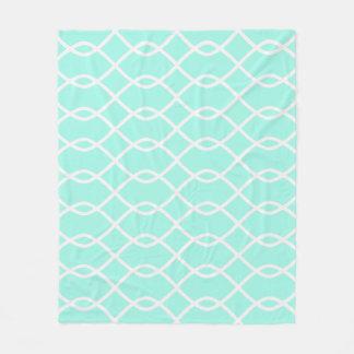 ELEGANT WAVE PATTERN - Teal Fleece Blanket