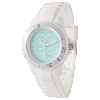 ELEGANT WAVE PATTERN Teal -Watch Wrist Watch