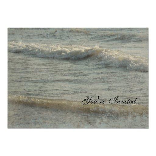 Elegant Waves on the Ocean Invitation