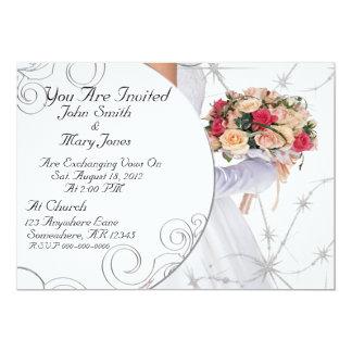 Elegant Wedding 13 Cm X 18 Cm Invitation Card