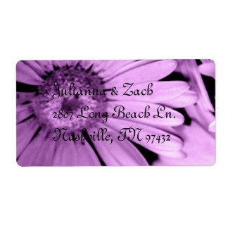 Elegant Wedding Address Vintage Floral Personal Shipping Label