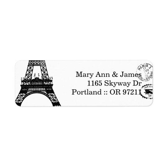 Elegant Wedding Address Vintage Paris Postcard