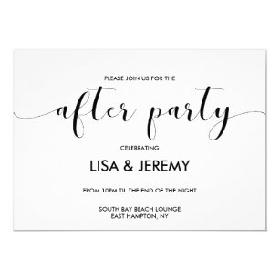 after party invitations announcements zazzle uk
