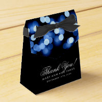 Elegant Wedding Blue Hollywood Glam Favour Box