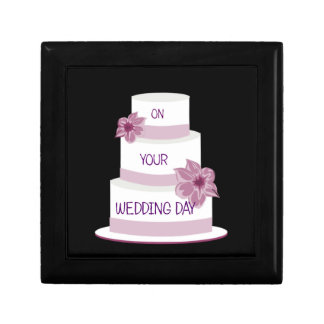 Elegant Wedding Cake Gift Box