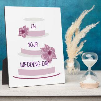 Elegant Wedding Cake Plaque