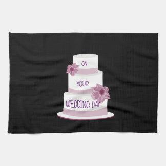 Elegant Wedding Cake Tea Towel