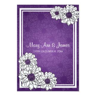 Elegant Wedding Dahlia Floral Purple Card