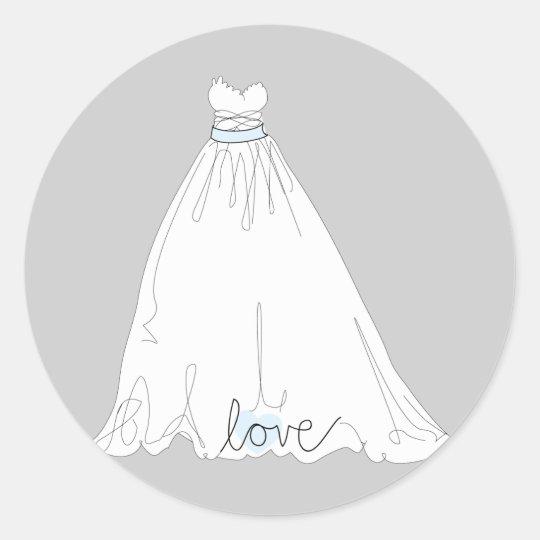 Elegant Wedding Dress Sticker