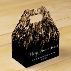 Elegant Wedding Falling Stars Gold Favour Box
