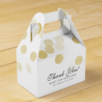 Elegant Wedding Faux Gold Foil Glitter Lights Favour Box