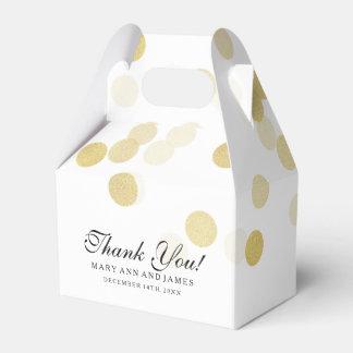 Elegant Wedding Faux Gold Foil Glitter Lights Favour Boxes