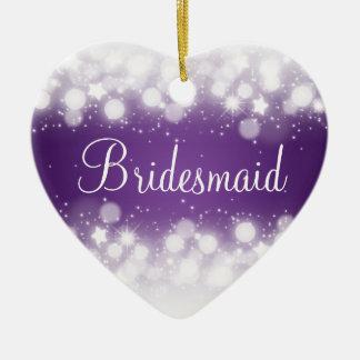 Elegant Wedding Favor  Magic Sparkle Purple Christmas Ornament