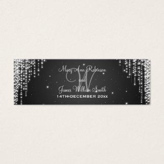 Elegant Wedding Favor Tag Night Dazzle Black Mini Business Card