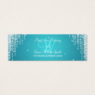 Elegant Wedding Favor Tag Night Dazzle  Blue Mini Business Card