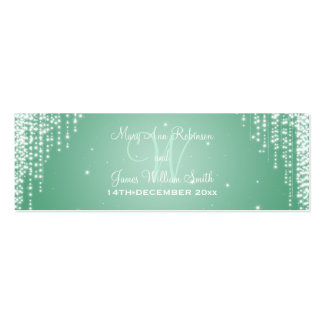 Elegant Wedding Favor Tag Night Dazzle Mint Green Pack Of Skinny Business Cards