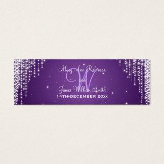 Elegant Wedding Favor Tag Night Dazzle Purple Mini Business Card