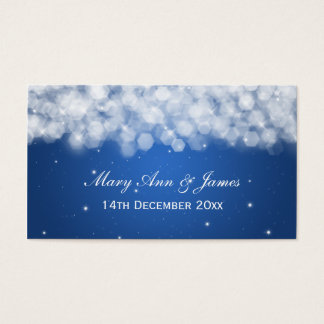 Elegant Wedding Favor Tag Party Sparkle Blue